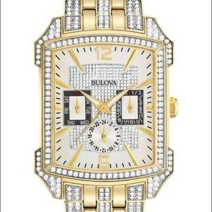 Bulova Men's Crystal Collection Two Tone Watch,
